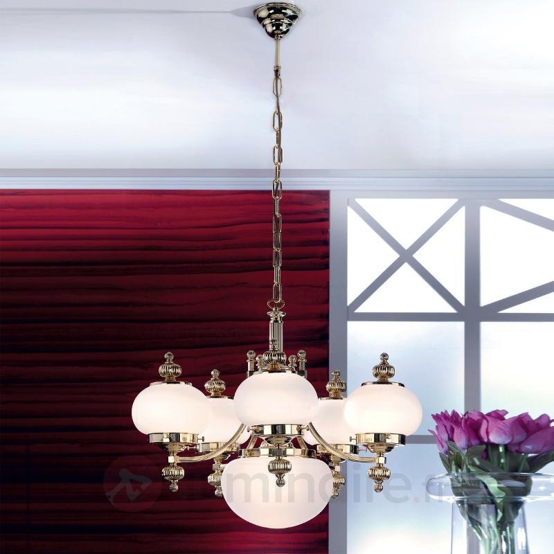 DELIA - lustre noble 6 lumières - Suspensions classiques, antiques
