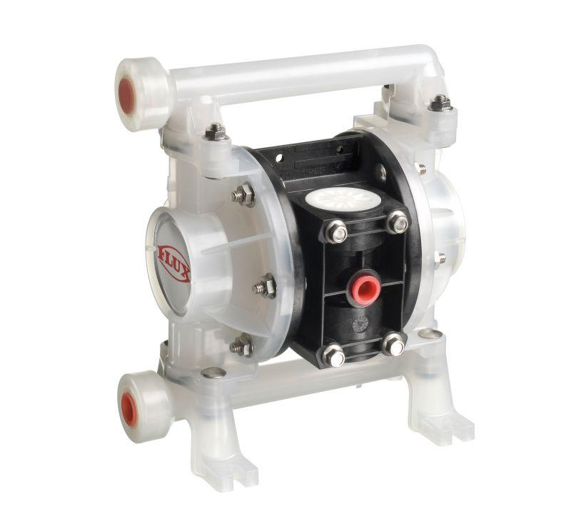 FLUX Air-operated diaphragm pumps FDM - In Injection-moulded/cast version and different versions from 30 - 375 l/min