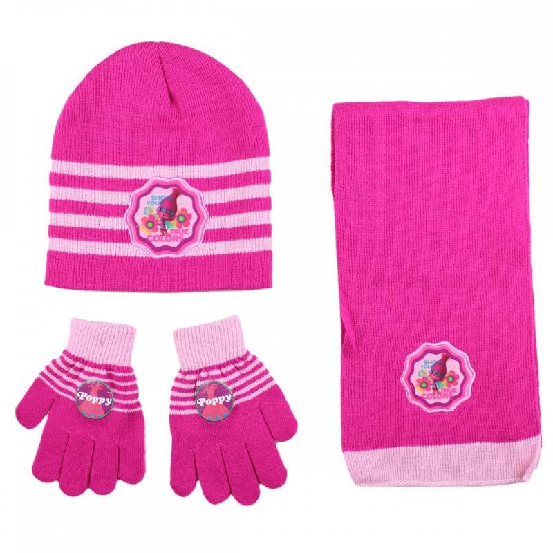 3x Echarpes et bonnets et gant Trolls - Bonnet Gant Echarpe