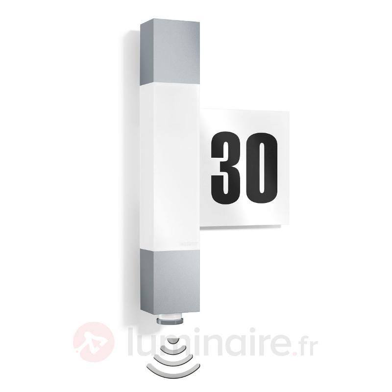 Applique LED L630 plaque n° maison, détecteur - Numéros de maison lumineux