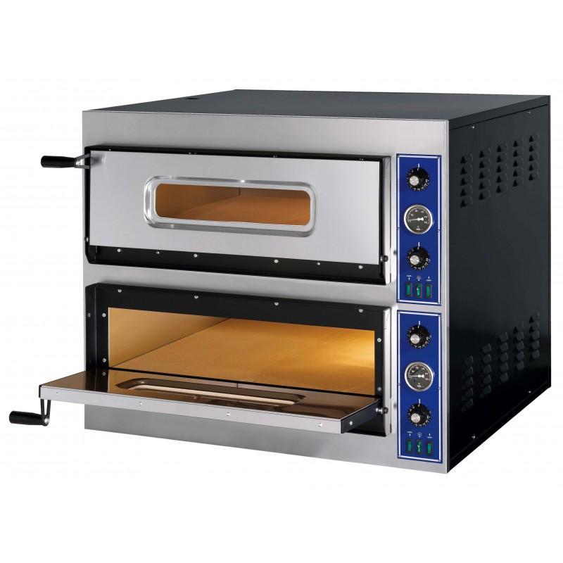 FOUR A PIZZA ELECTRIQUE PROFESSIONNEL, 2 X 6 PIZZA,... - Référence VE66START