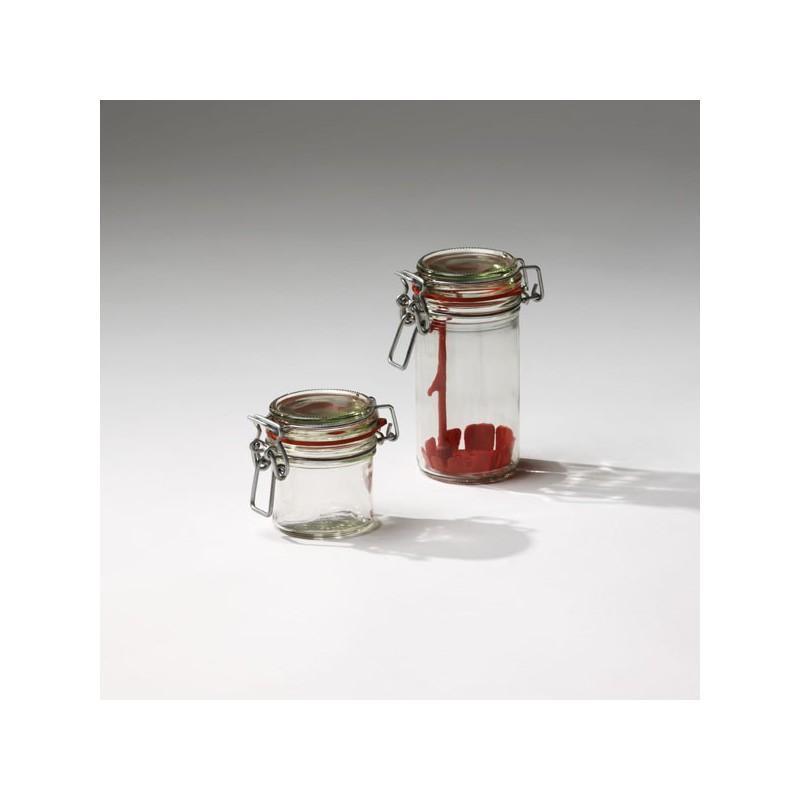 12 Bocaux en verre modèle Ermetico 135 ml (type Fido) avec joints inclus - Bocal Ermetico