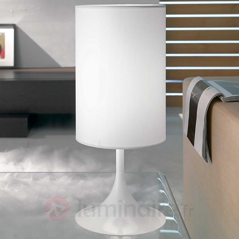 Lampe à poser blanche Flute 55 cm - Lampes à poser en tissu