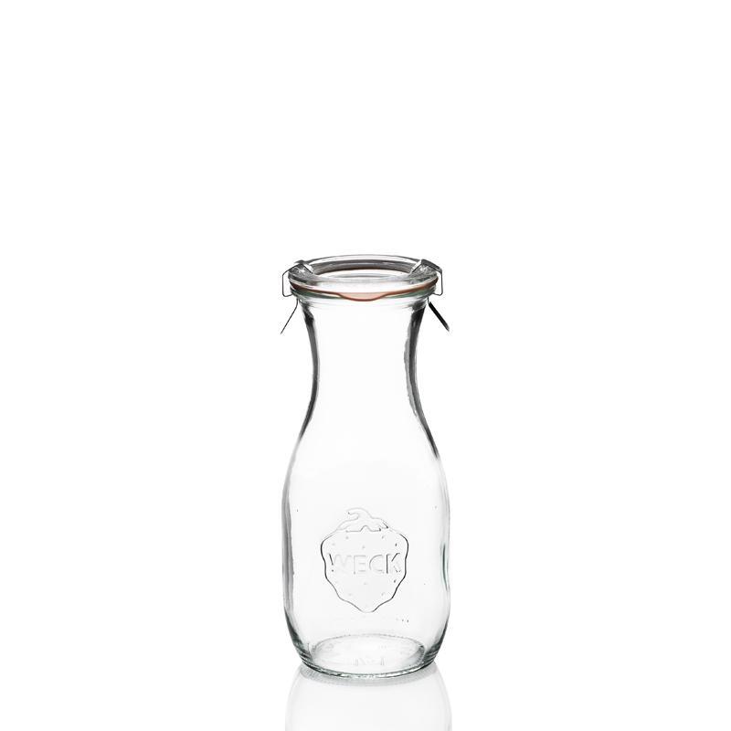 6 bottiglie WECK Flacon® 540 ml  - con coperchi in vetro e Guarnizioni (graffe non incluse)