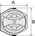 Hose reel, PU anti-spark., Hose- 9.5x13.5, Length 14 m - Hose reel for compressed air, anti-spark