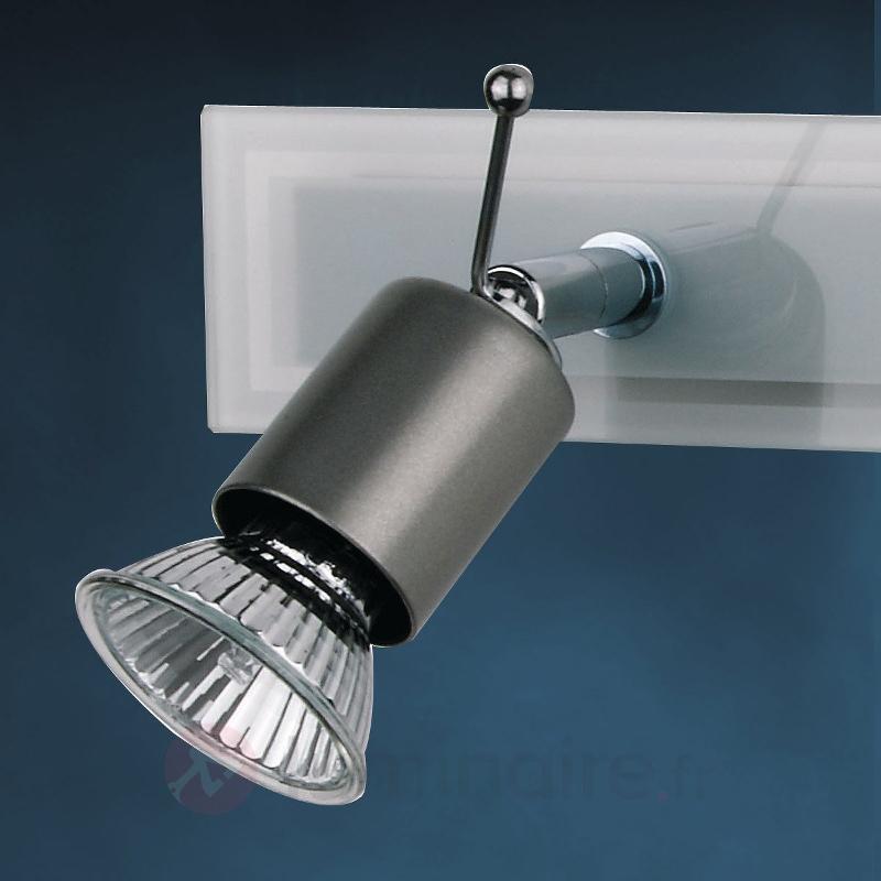 Plafonnier en verre SARA à 2 lampes - Plafonniers chromés/nickel/inox