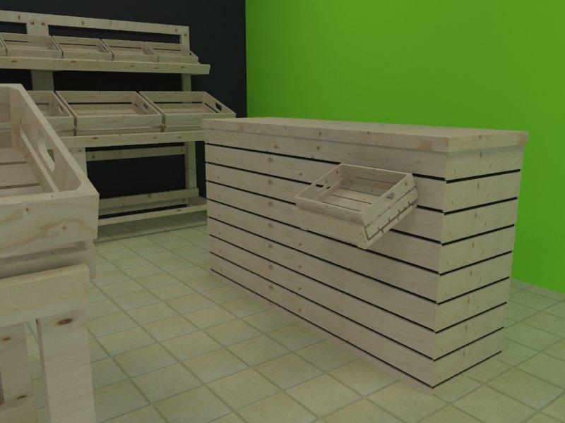 Serie peglable - Mobiliario para fruterías y tiendas de alimentación Serie Plegable