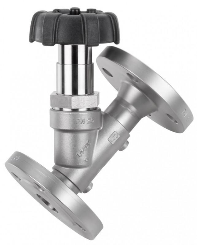 GEMÜ 507 - Válvula globo de assento angular com acionamento manual