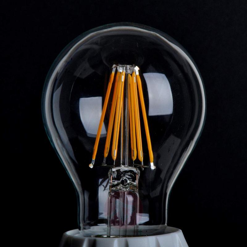 E27 6W 827 LED bulb, clear - light-bulbs