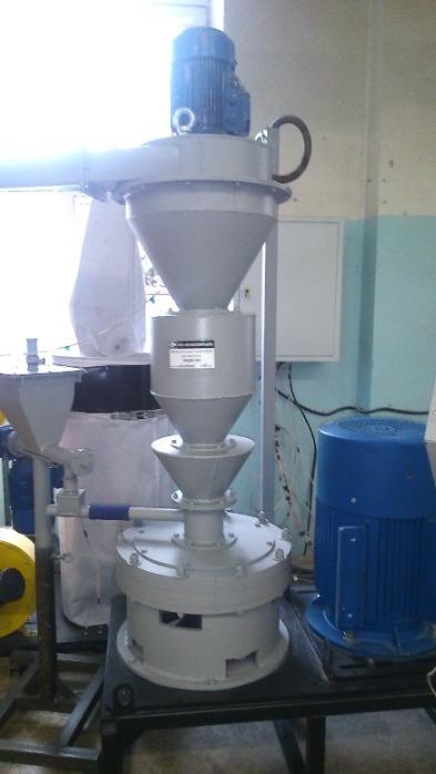Multichannel jet-vortex mill MKM-400 - Metal powder for various technologies