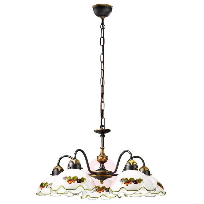 5-bulb hanging light Nonna, fruit - Pendant Lighting