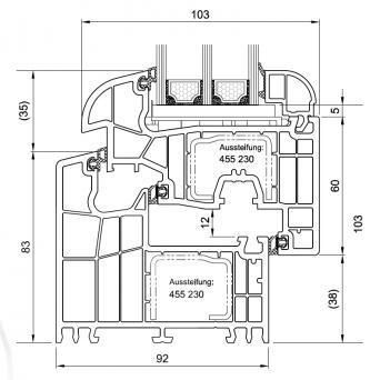 BluEvolution 92 mm MD Rund - Kunststoffenster