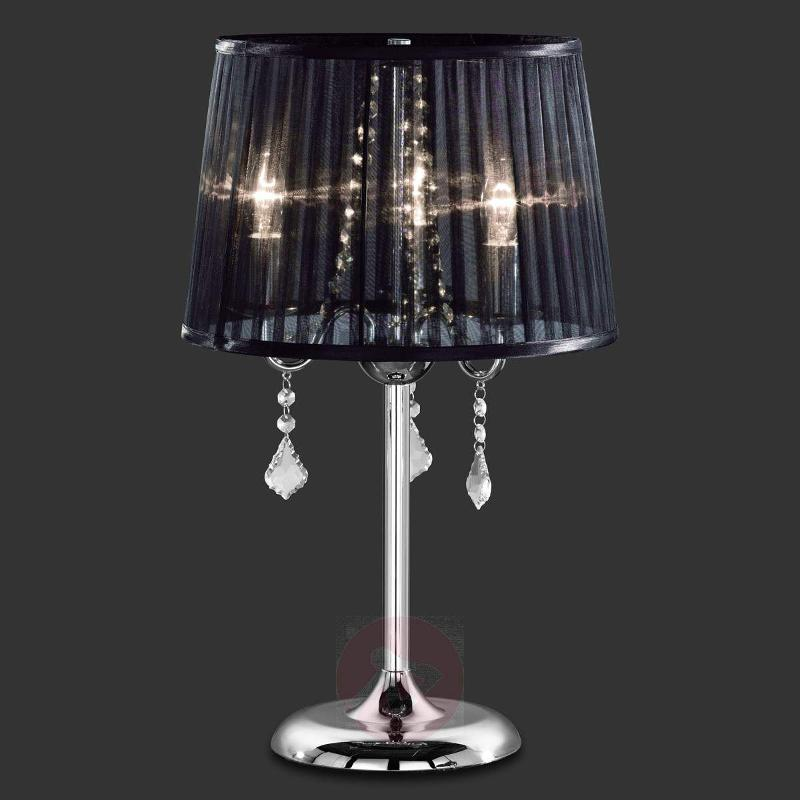 Diafana table lamp with an organza shade - Table Lamps