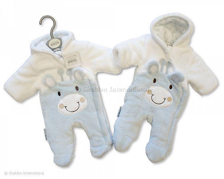 Tiny Baby Padded Snowsuit - Giraffe - Sky - Premature Sets - Autumn/Winter