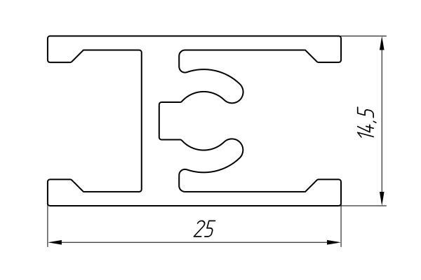 Aluminum Profile For Wardrobes Ат-2714  - Aluminum profile for wardrobes