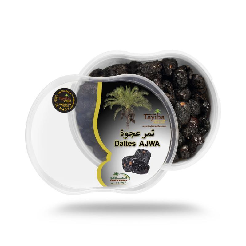 Ajwa Madinah 1 Kg - Gros calibre boîte hermétique imprimée.