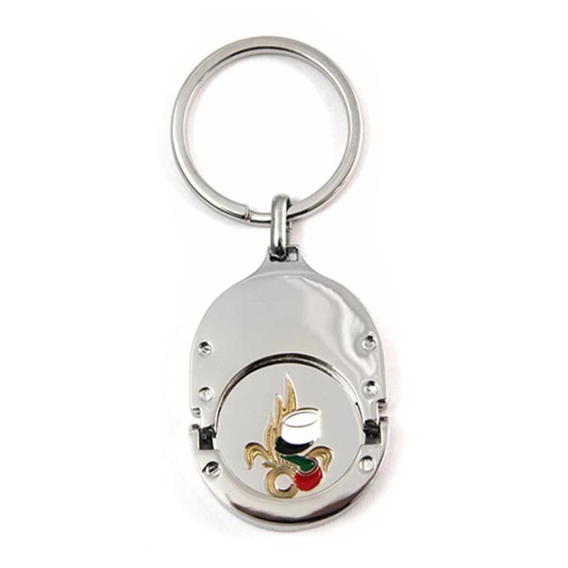 Porte-clés jeton attache métal - Porte-clés métal