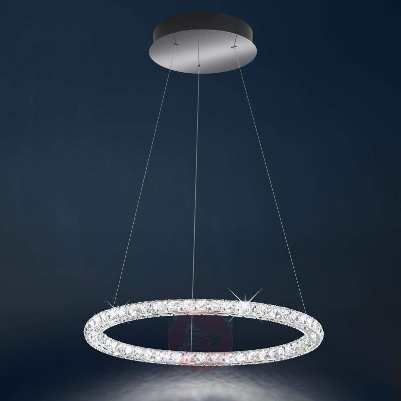 Circle - LED hanging lamp with Swarovski crystals - Pendant Lighting