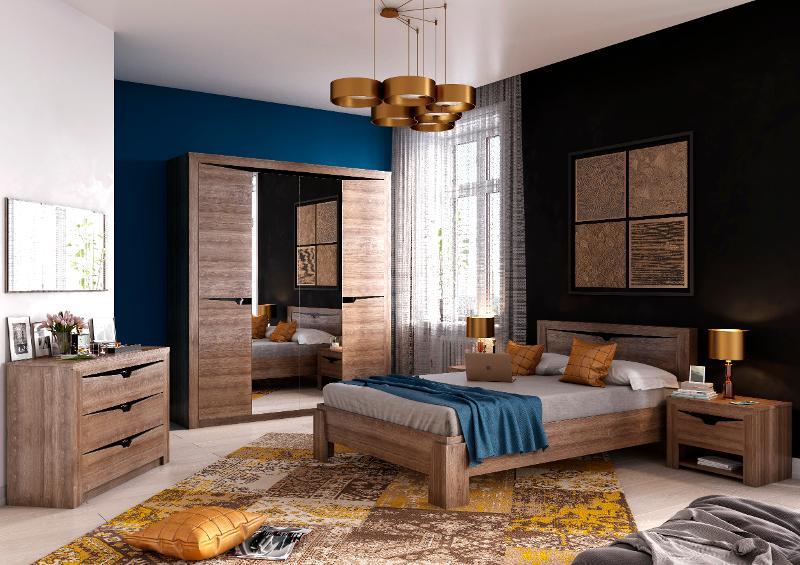 """Bedroom Set """"Sorento"""" Stirling Oak - Bedroom furniture"""