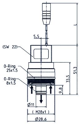 Vanne à cartouche monostable, DN 7 - 50.007.101 mono M28