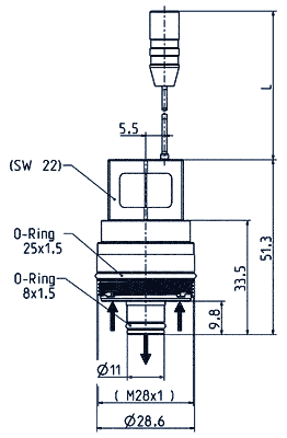 Mono stable cartridge valve, DN 7 - 50.007.101 mono M28