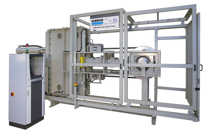 Wire rope test machine - Special mechanical engineering