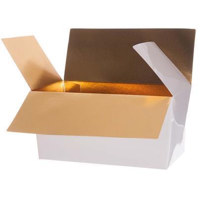 CHOCOLATE BOX WHITE / GOLD 750G - Item No. 1201029A750G