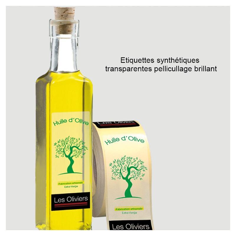 Etiquettes synthétiques transparents - Etiquettes personnalisées multi-usages et synthétiques