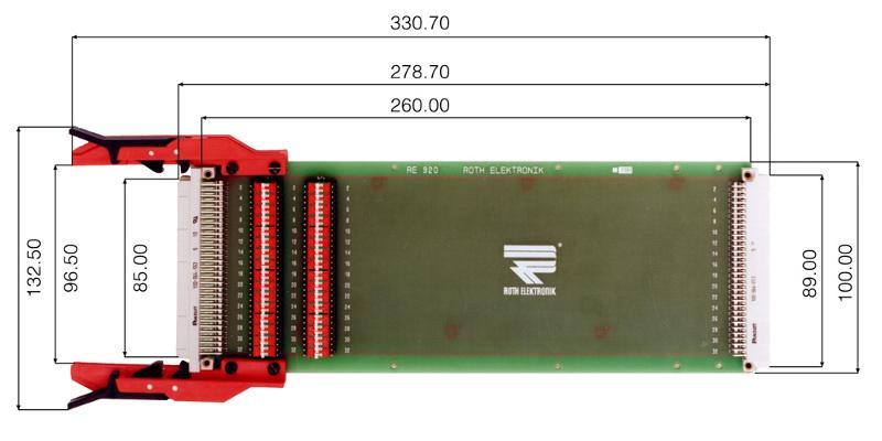 "RE920C64/2LF - Extender Cards 19"""