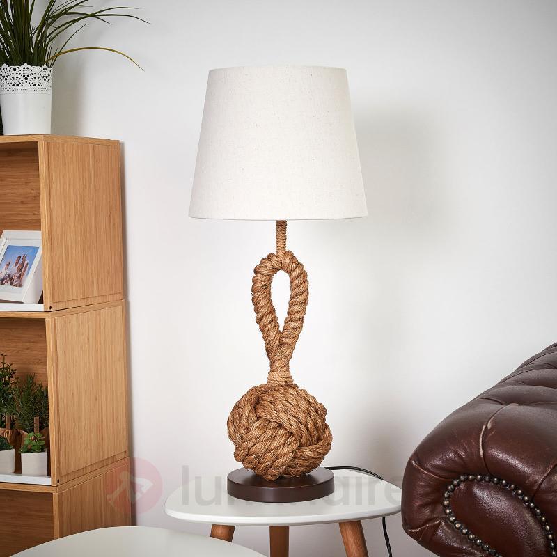 Lampe à poser Nils au design marin - Lampes à poser en tissu