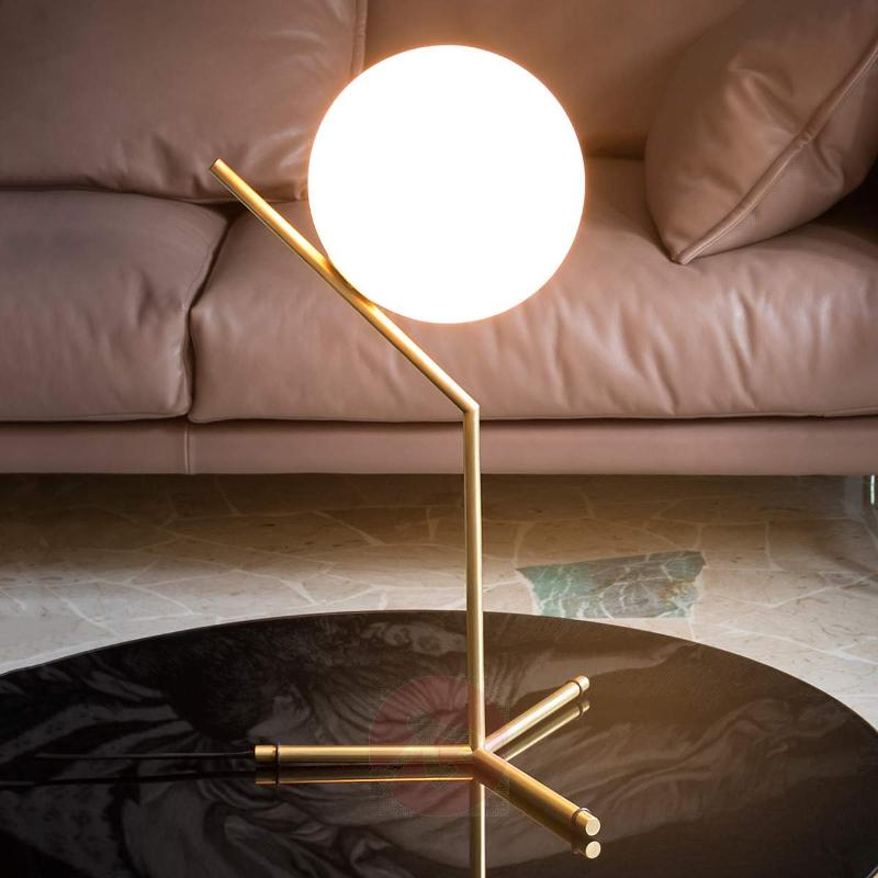 IC T1 - Table Lamp by FLOS, Brushed Brass - Table Lamps
