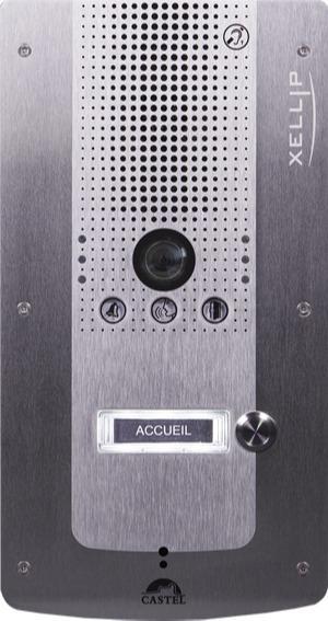 XE VIDEO 1B - Interphonie IP - Portier audio vidéo Full IP/SIP 1 bouton d'appel conforme loi Handicap