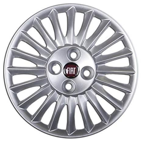 Serie 4 coperchi coppe ruota R15 Fiat - Grande Punto Logo Ro -