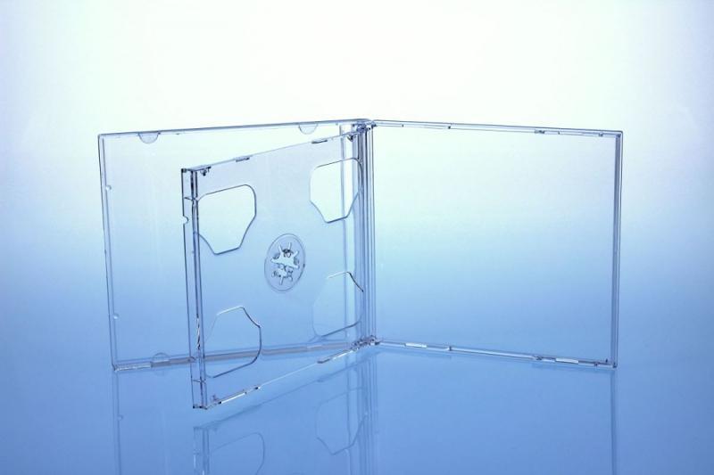 CD Jewelcase für 2 Discs - montiert mit transparentem Tray - Jewelboxen & Trays