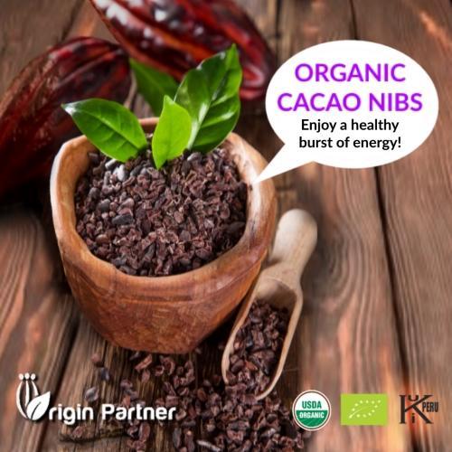 ORGANIC RAW & ROASTED CACAO NIBS - PERUVIAN CACAO NIBS