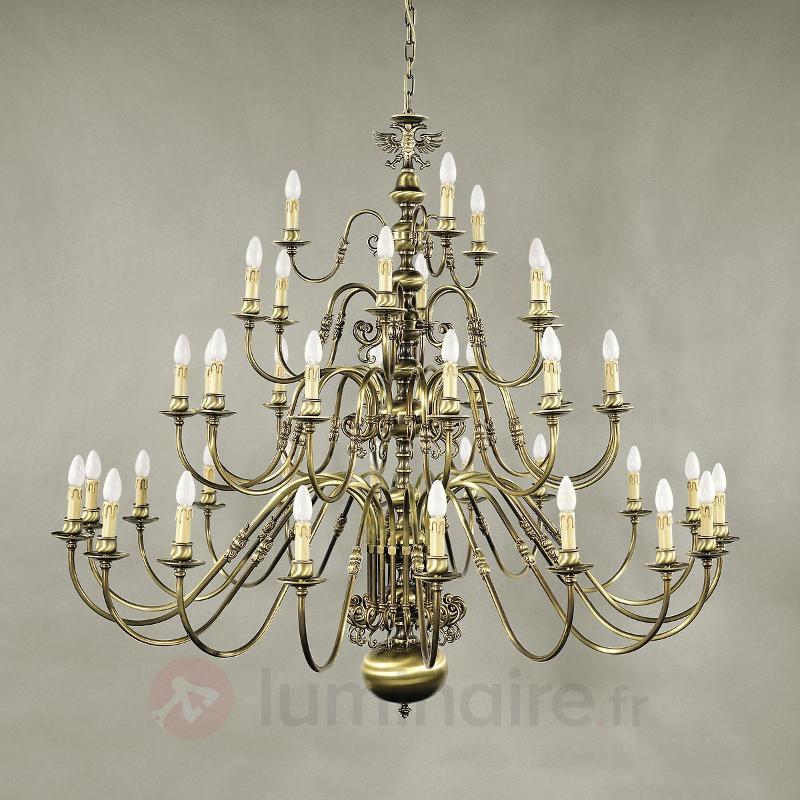 Lustre IMKE. 39 lampes, laiton ancien - Lustres classiques,antiques