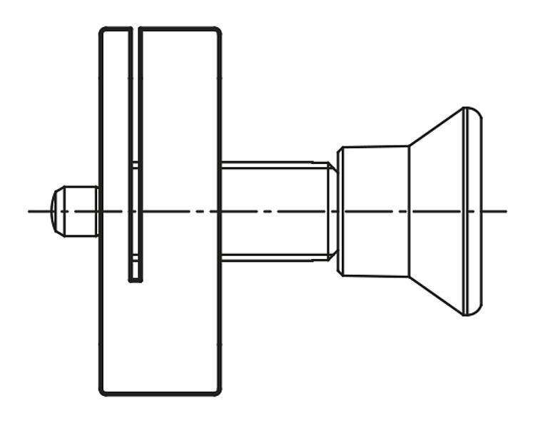 Support de doigt d'indexage en aluminium - Doigt d'indexage à corps lisse