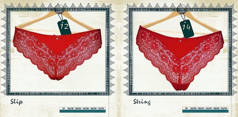 Slip et String Rouges Passion - Lingerie pour Femmes