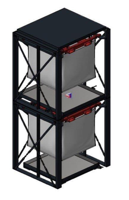 Härtel RESTO 2020 - Big Bag Regal RESTO 2020 zum Lagern von Reststoffen