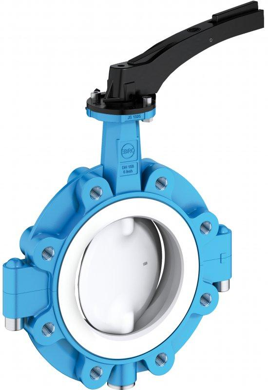 Shut-off and control valve type T 214-A - PTFE-lined lug type valve for chemicals and high-corrosive media.