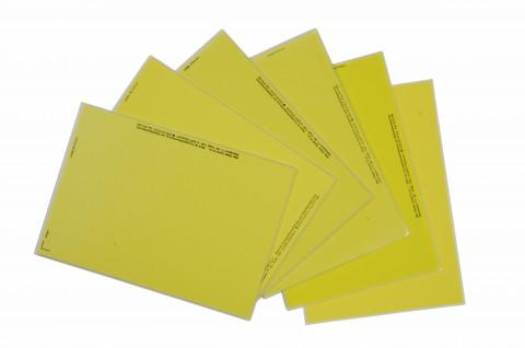 yellow fabric labels for laser printing - labels made from Steierform 87-50300 material