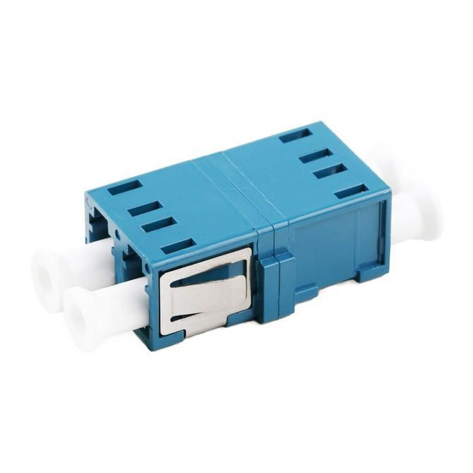 Duplex Single Mode Sc Footprint Fiber Optic Adapter Without Flange - null