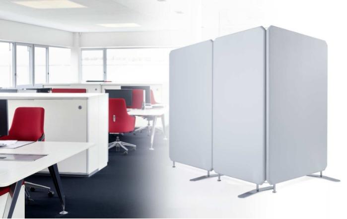 Oktagon Akustik Stellwand (Schallschutz / Büro) - Premium Schallschutz Trennwandsystem