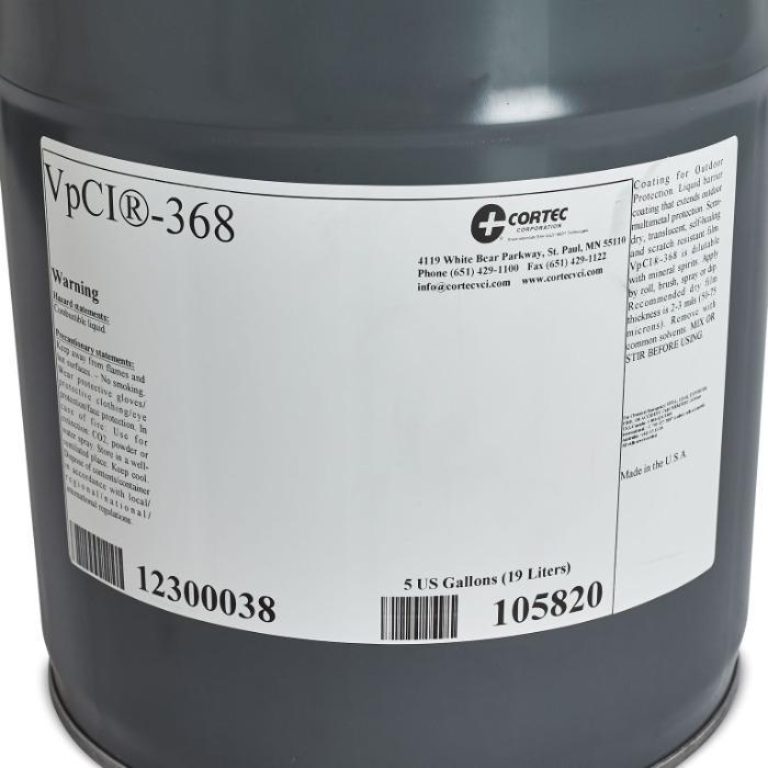 Cortec VPCI 368 - MIL-PRF-16173E   CORROSIEWERENDE COATING VAN METALEN