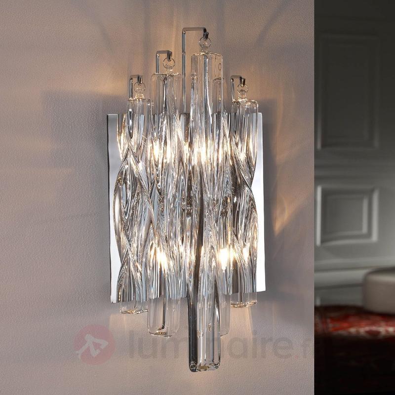 Applique scintillante Manacor en cristal - Appliques chromées/nickel/inox
