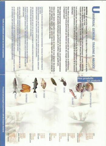 Poisson Congele et Frais  - Farine de Poisson