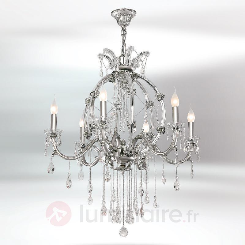 Lustre en cristal Trina à 6 lampes - Lustres en cristal