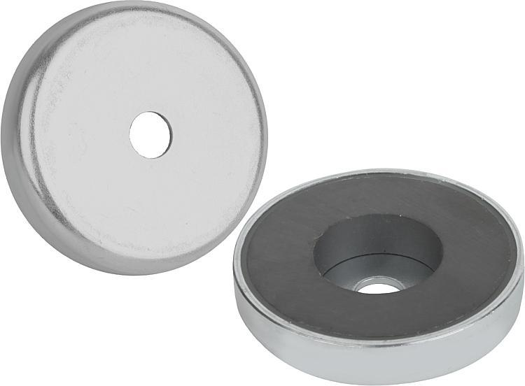 Magnets Shallow Pot With Counterbore Hard Ferrite - Magnets