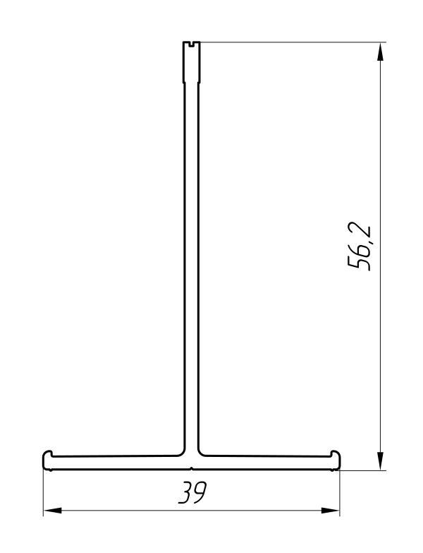 Aluminum Profile For Ventilated Facades Ат-2023 - Construction aluminum profile