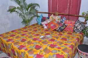 Handmade kantha quilt  - bedcover quilts